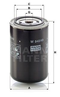 Öljynsuodatin MANN-FILTER W 940/49