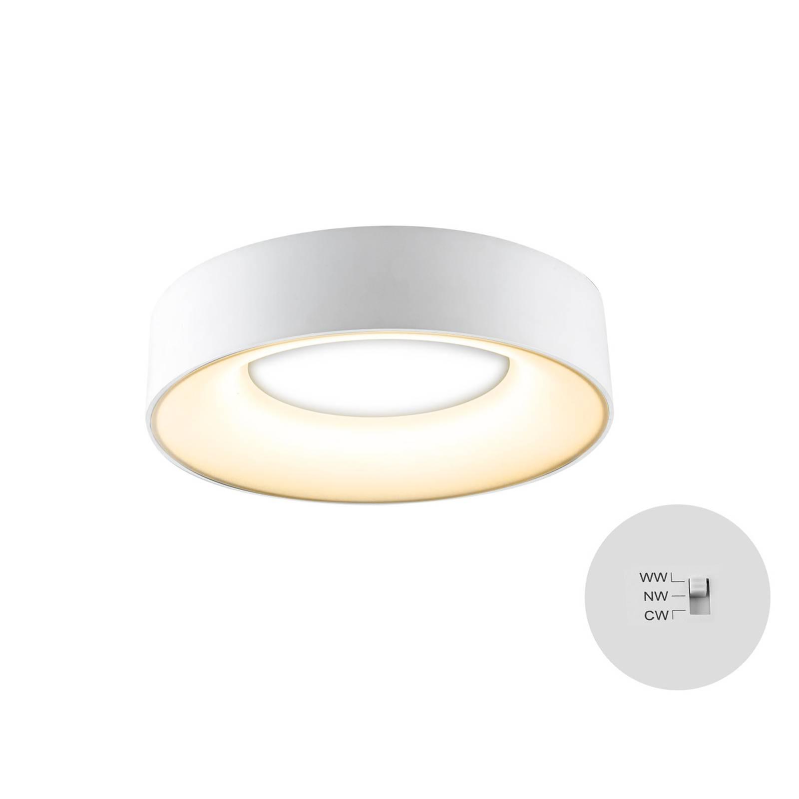 LED-kattovalaisin R30, Ø 30 cm, valkoinen
