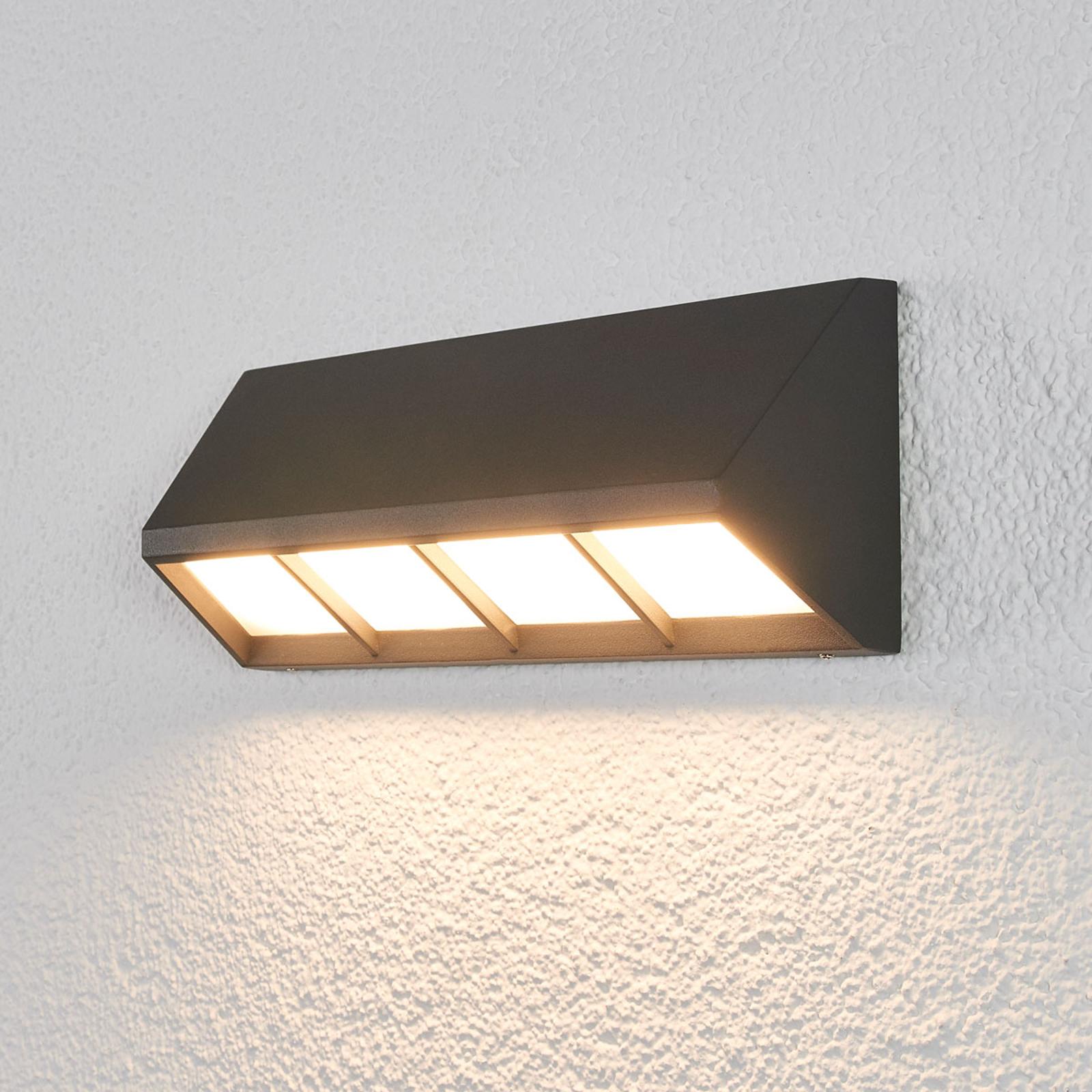 Cedrick – LED-ulkoseinälamppu, tummanharmaa