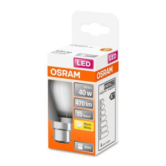 OSRAM-LED-golfpallolamppu B22d 4W 2 700 K matta
