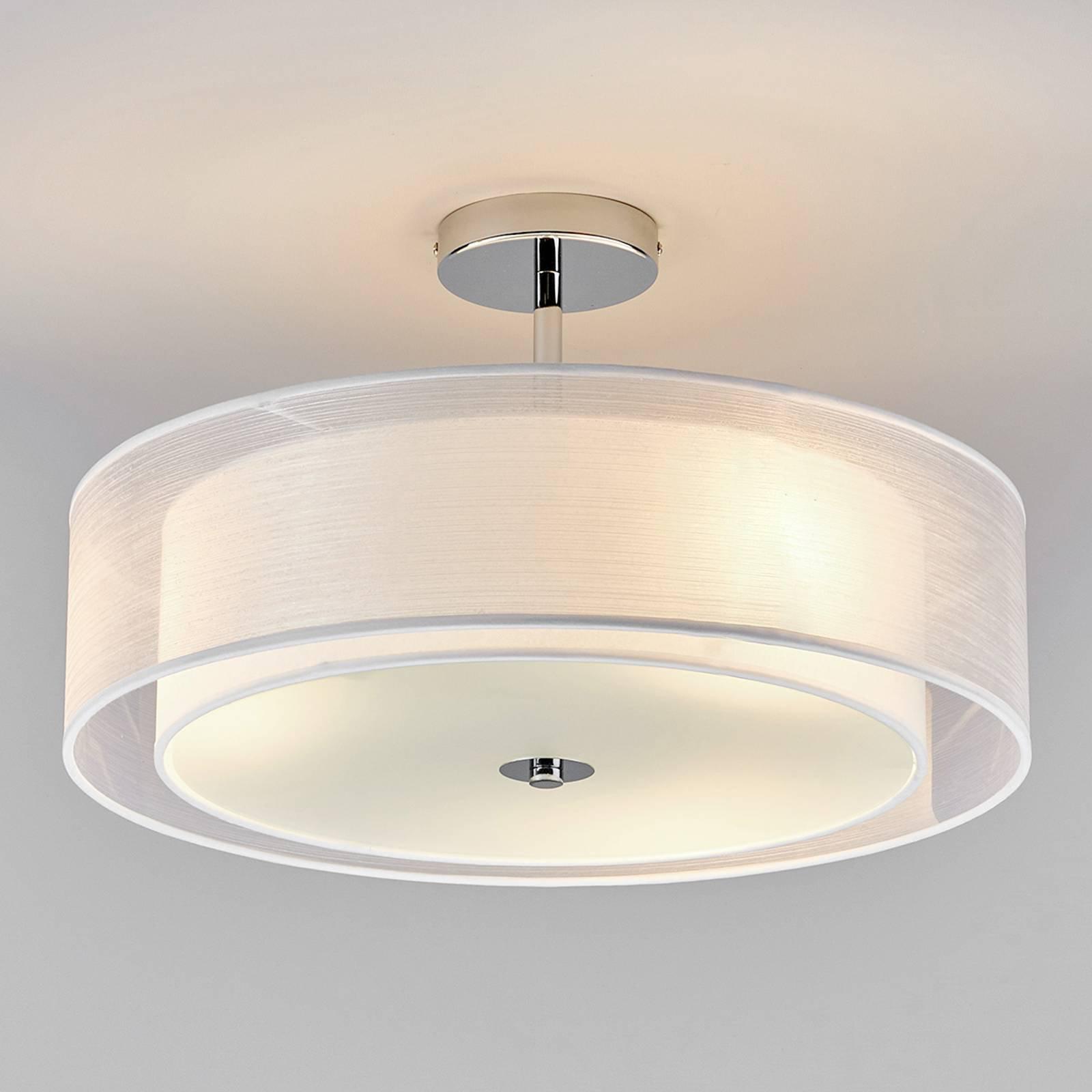 LED-taklampe Pikka med hvit skjerm