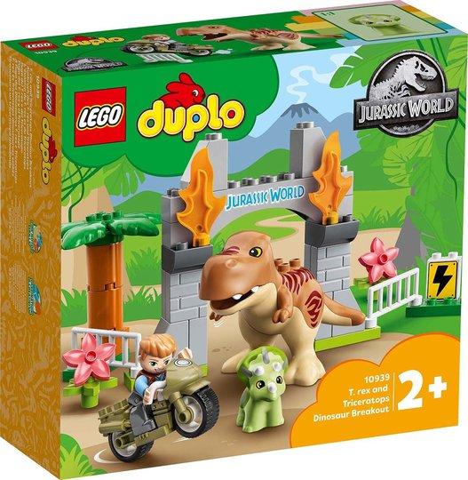LEGO DUPLO Jurassic World 10939 T. Rex og Triceratops Rømmer