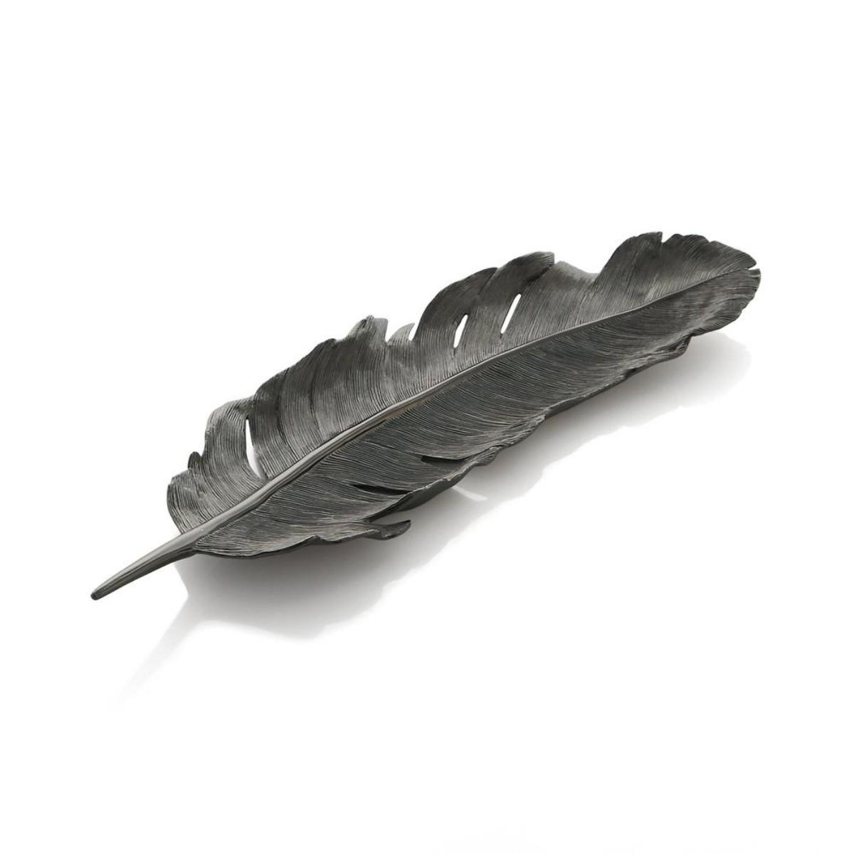 Michael Aram I Feather Tray I Black