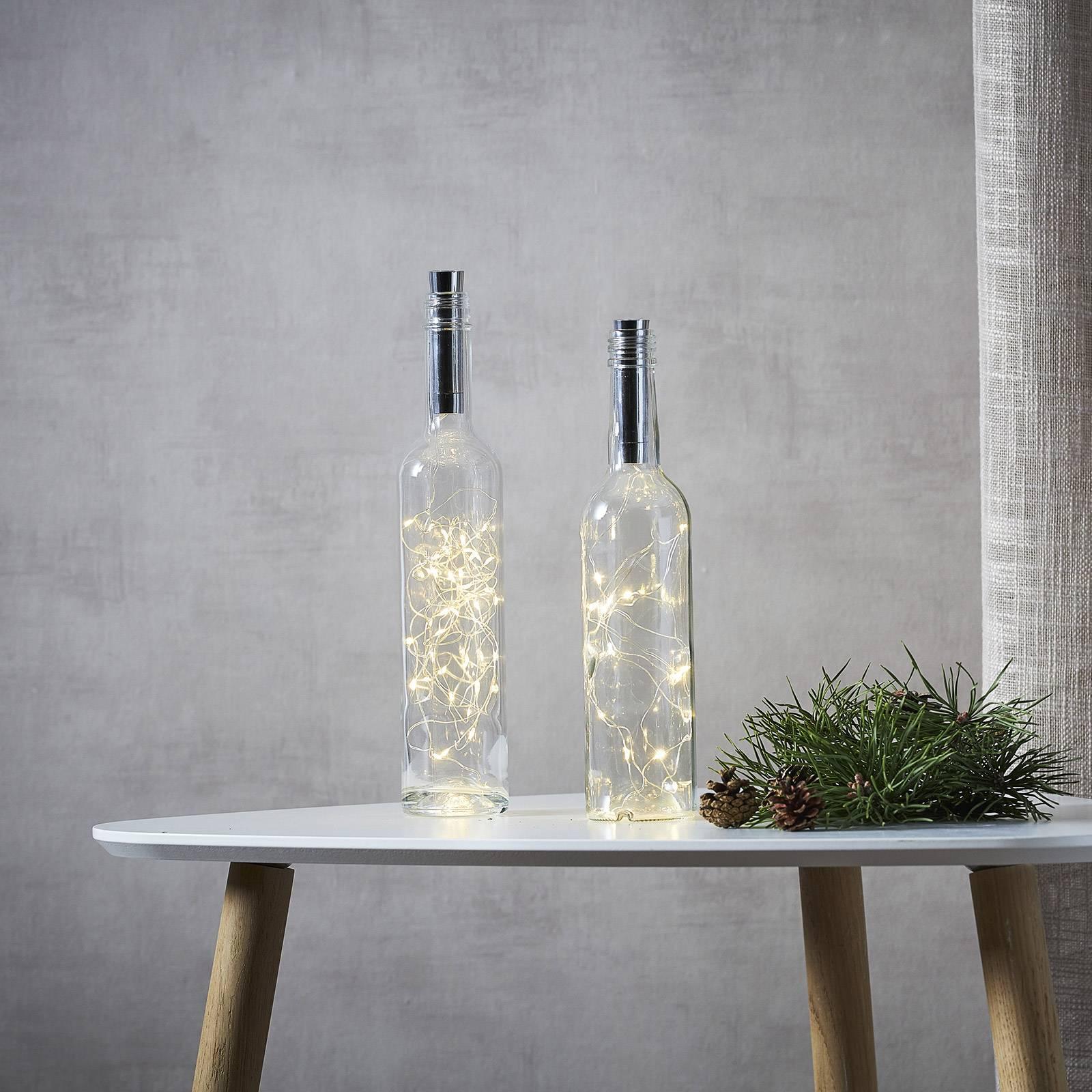 Dew Drops -valoketju pulloihin, paristo, 200 cm