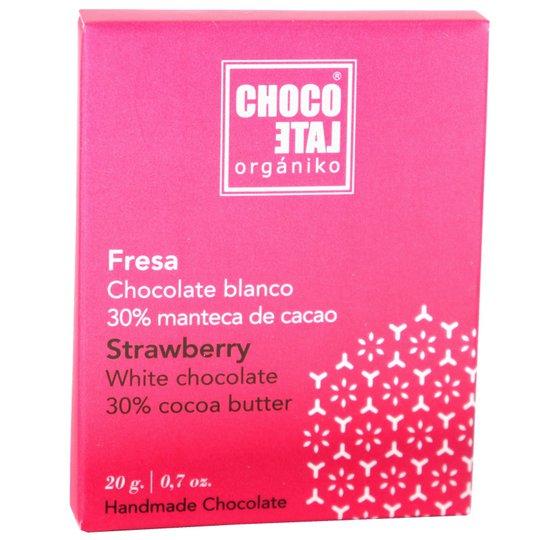 Eko Vit Choklad Med Jordgubbar - 33% rabatt
