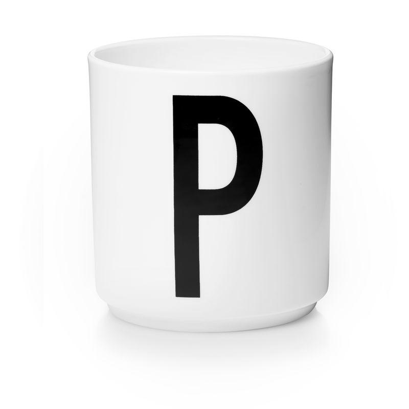Design Letters - Personal Porcelain Cup P - White