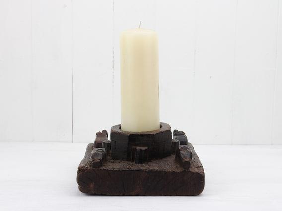Antique Re-Purposed Candle Holder Medium