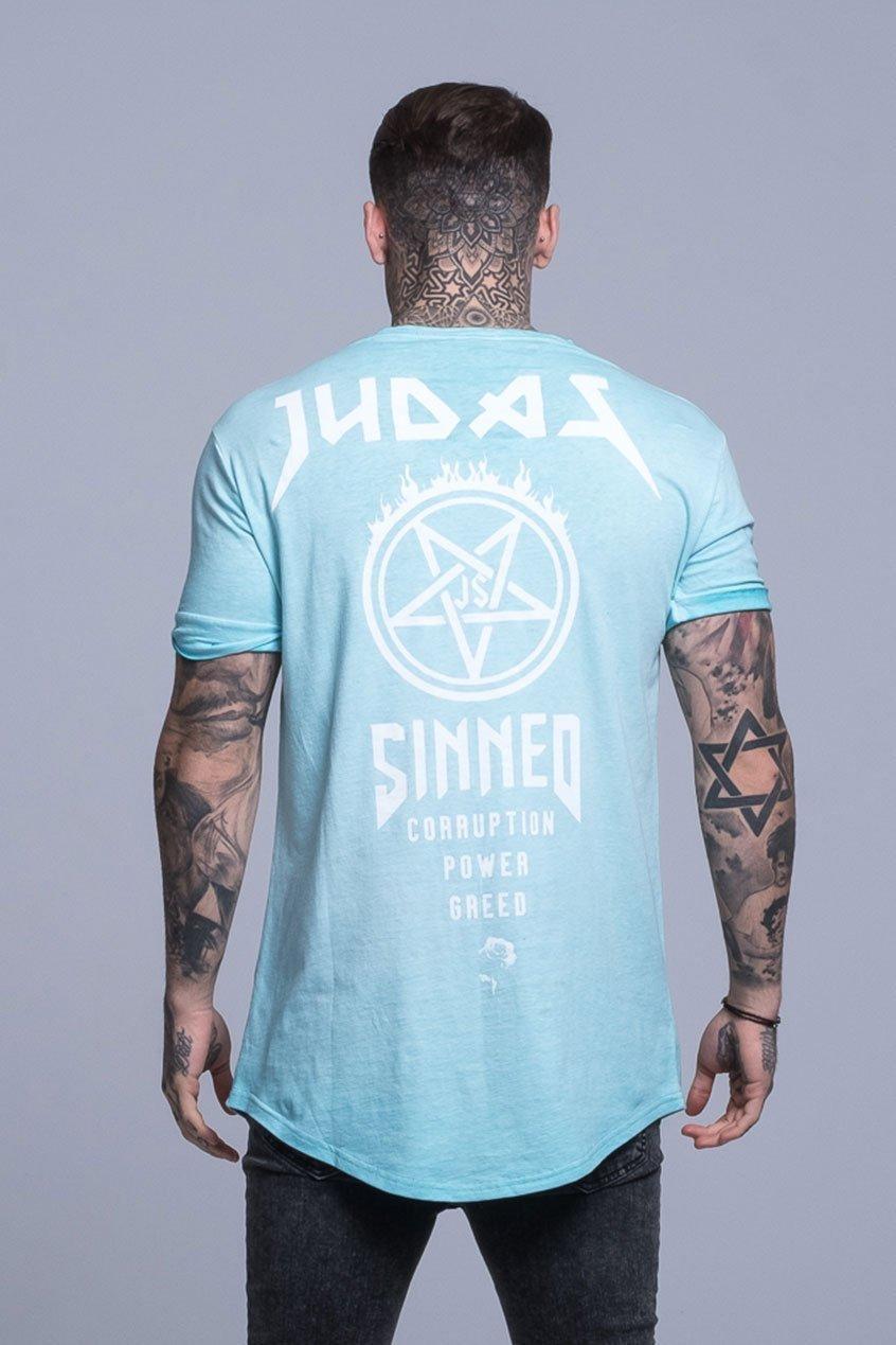 Power Oil Dye Men's T-Shirt - Aqua, Small