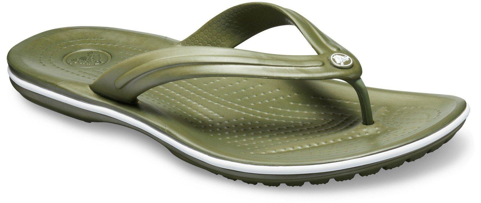Crocs Unisex Crocband Flip Flops Various Colours 21067 - Green 5