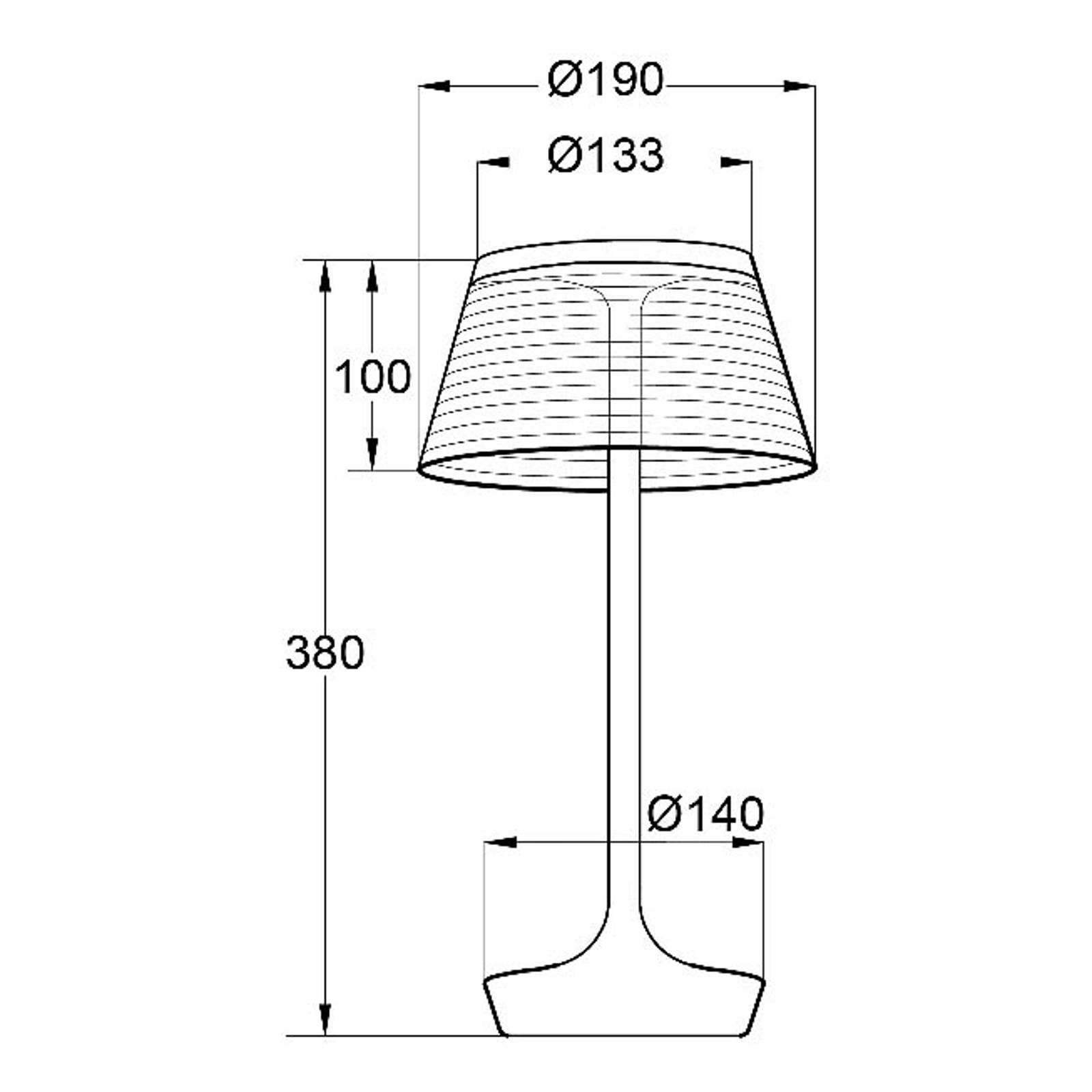 Aluminor La Petite Lampe -LED-pöytälamppu punainen