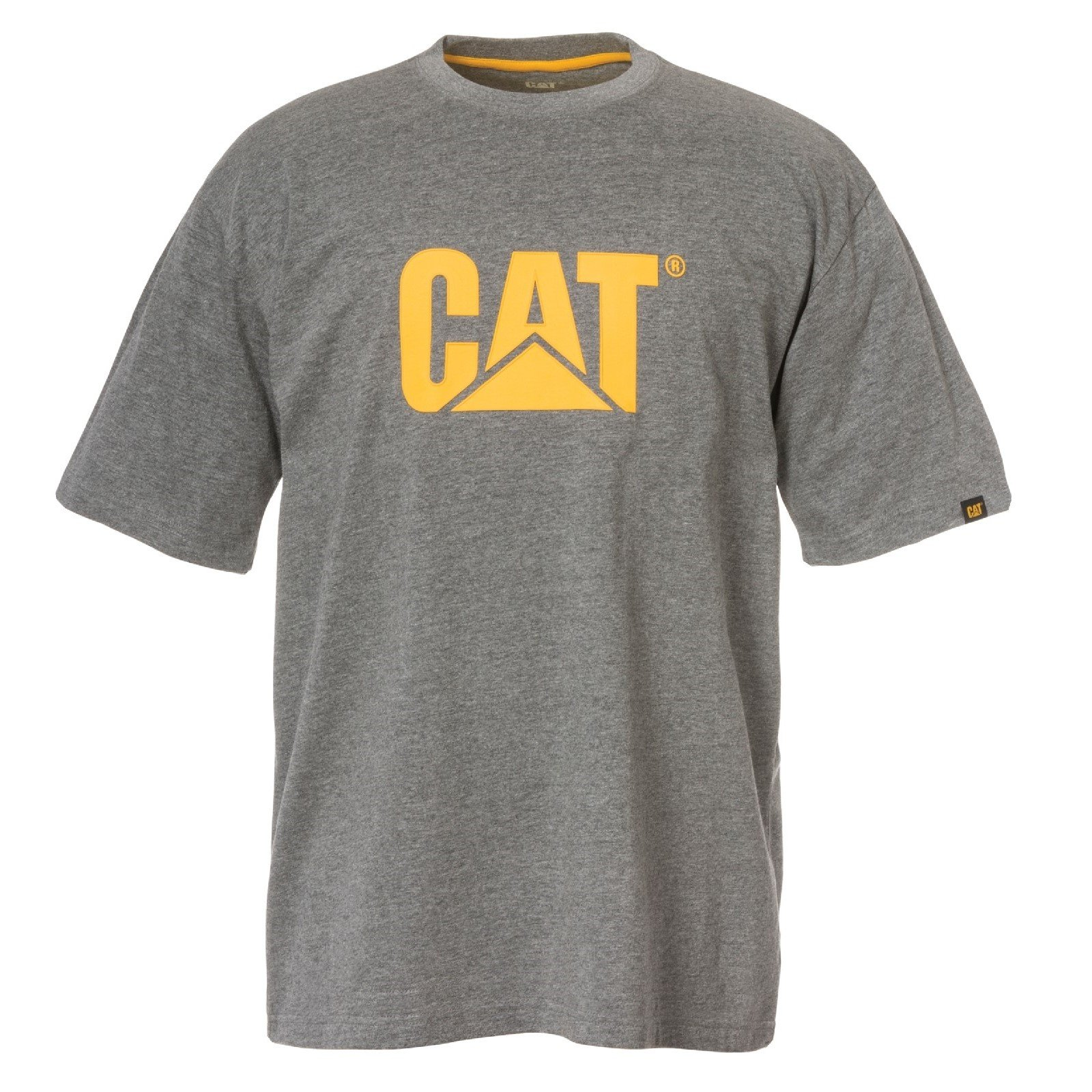 Caterpillar Men's Trademark Logo T-Shirt Various Colours 25301-42086 - Dark Heather Grey Sml