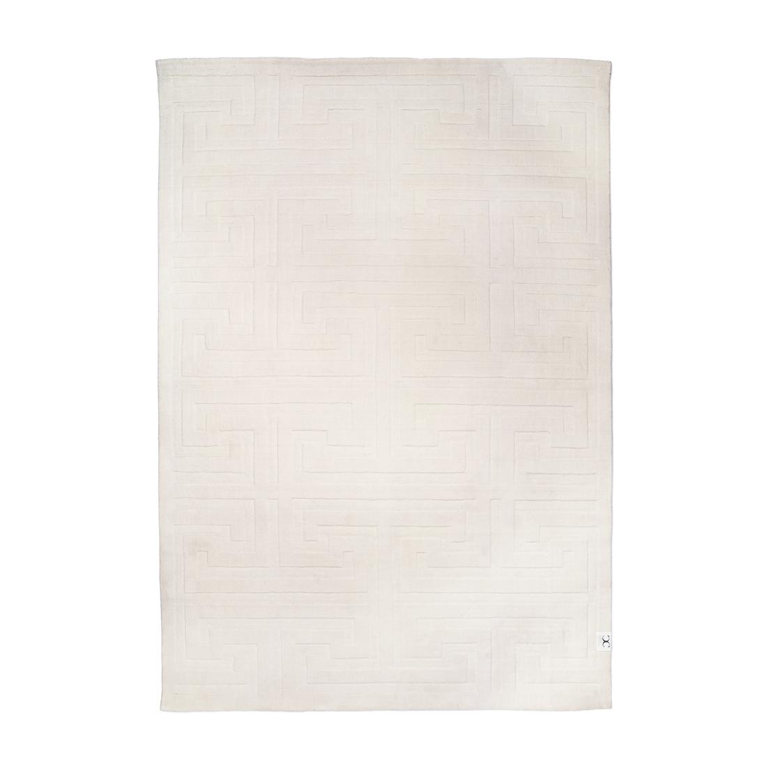 Vit ullmatta KEY WOOL 170 x 230 cm, Classic Collection