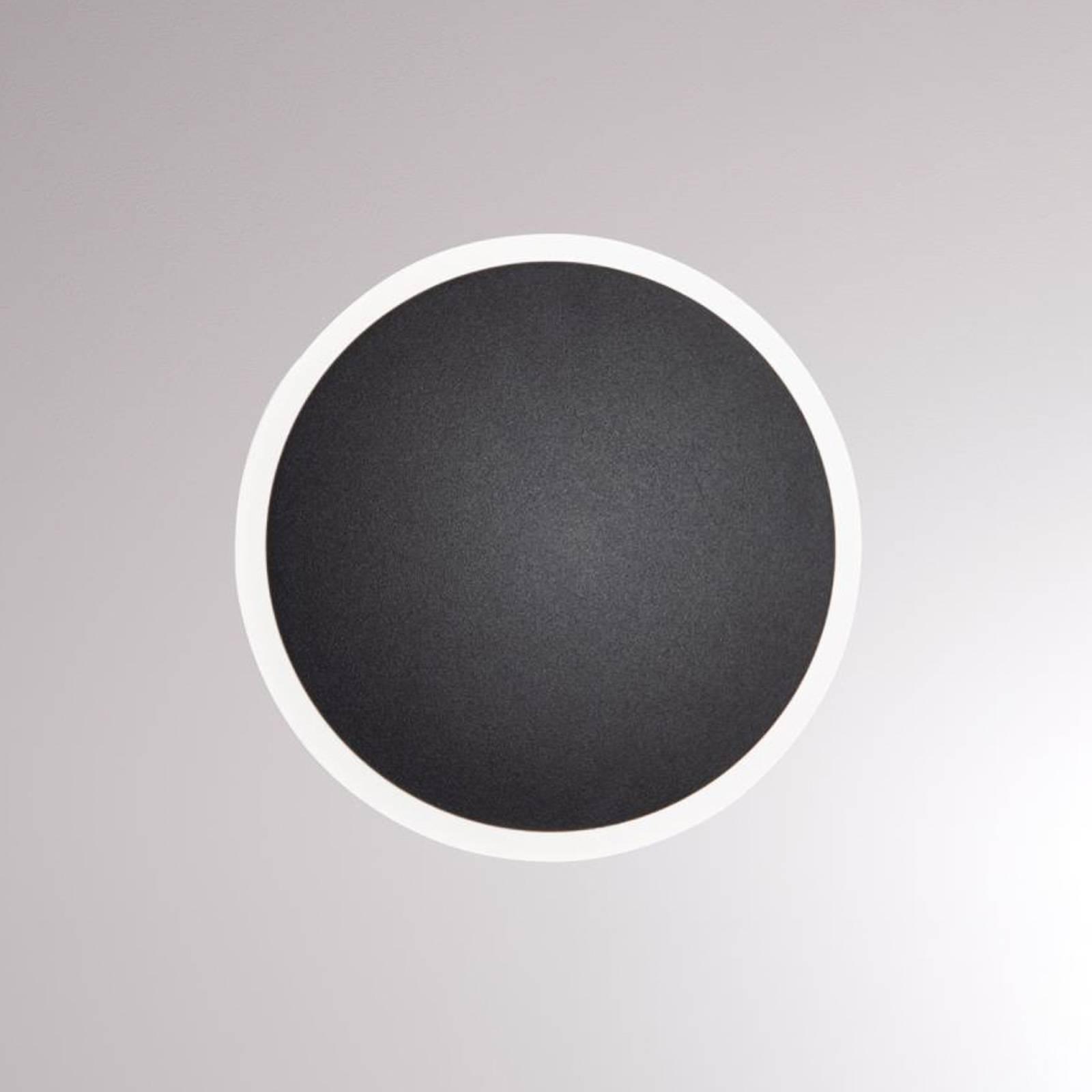 LOUM Pegato -LED-seinävalaisin, musta