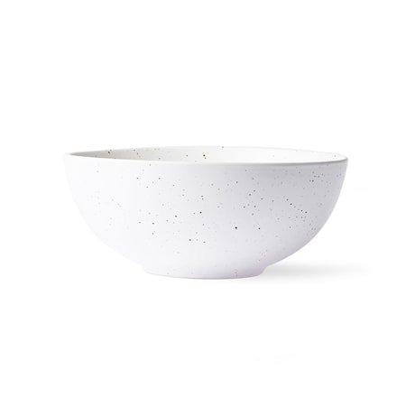 Bold & Basic Ceramics Speckled Skål Hvit