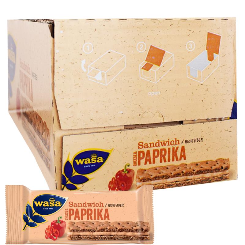 "Hel Låda ""Sandwich Cheese & Paprika"" 24 x 37g - 38% rabatt"