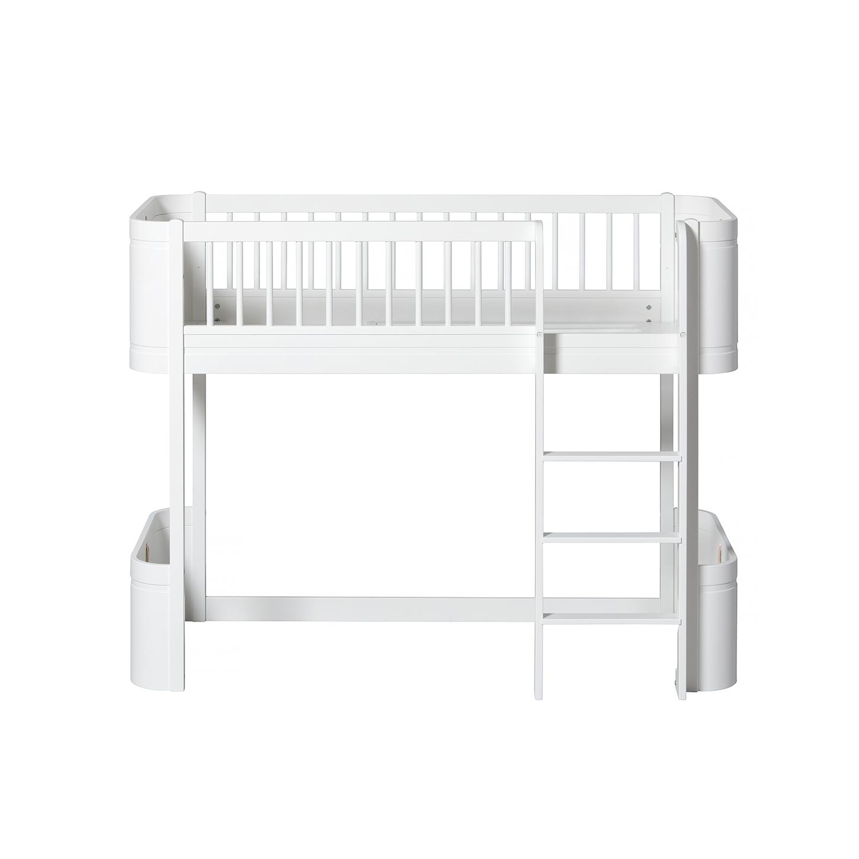 Loftsäng Wood Mini+ vit, Oliver Furniture