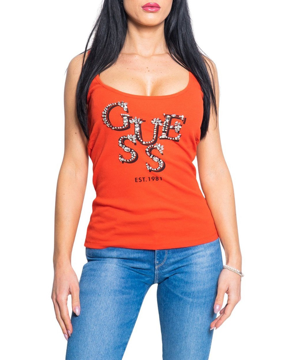Guess Women's Tank Top Various Colours 218274 - red XS