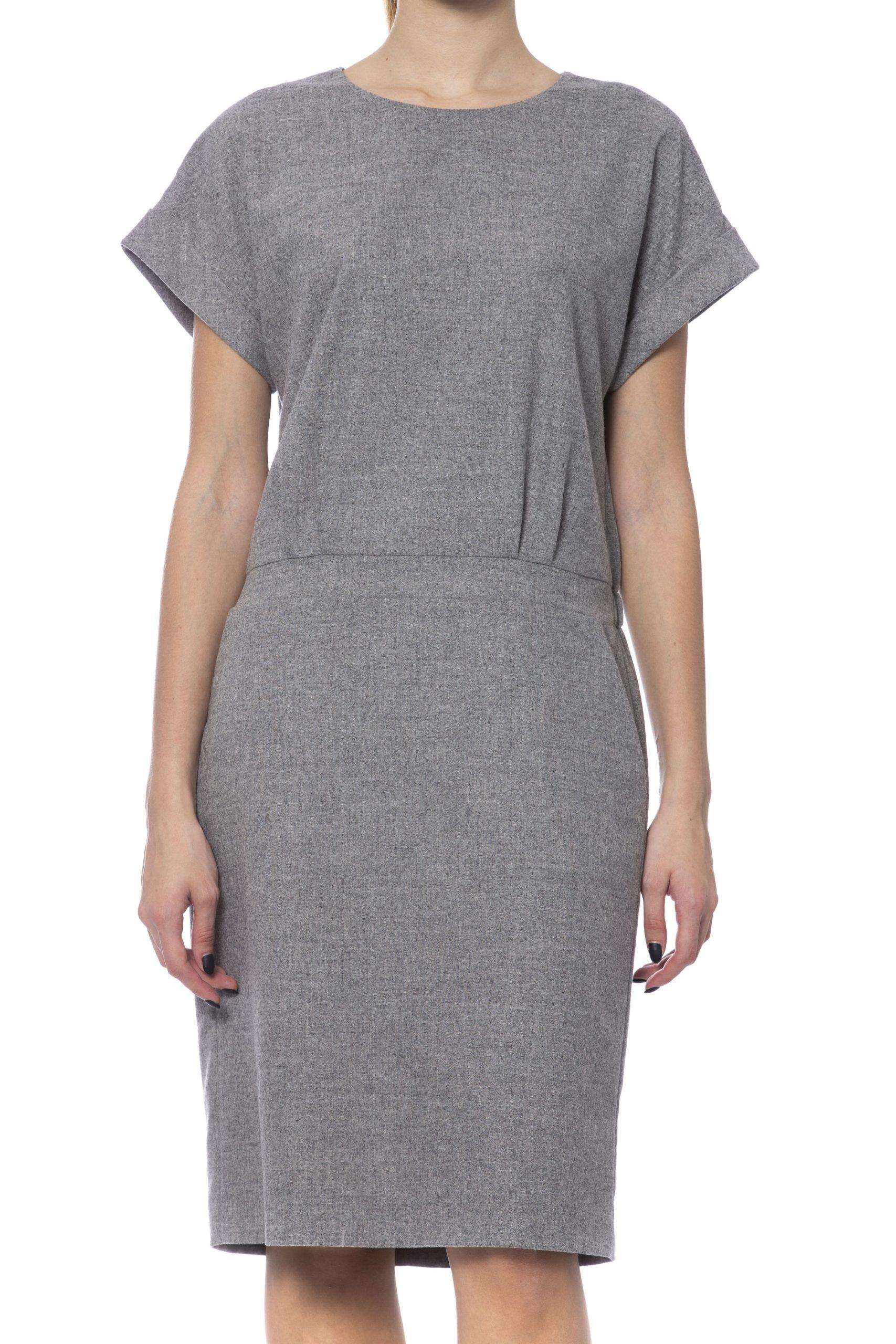 Peserico Women's Dress Grey PE993272 - IT42 | S