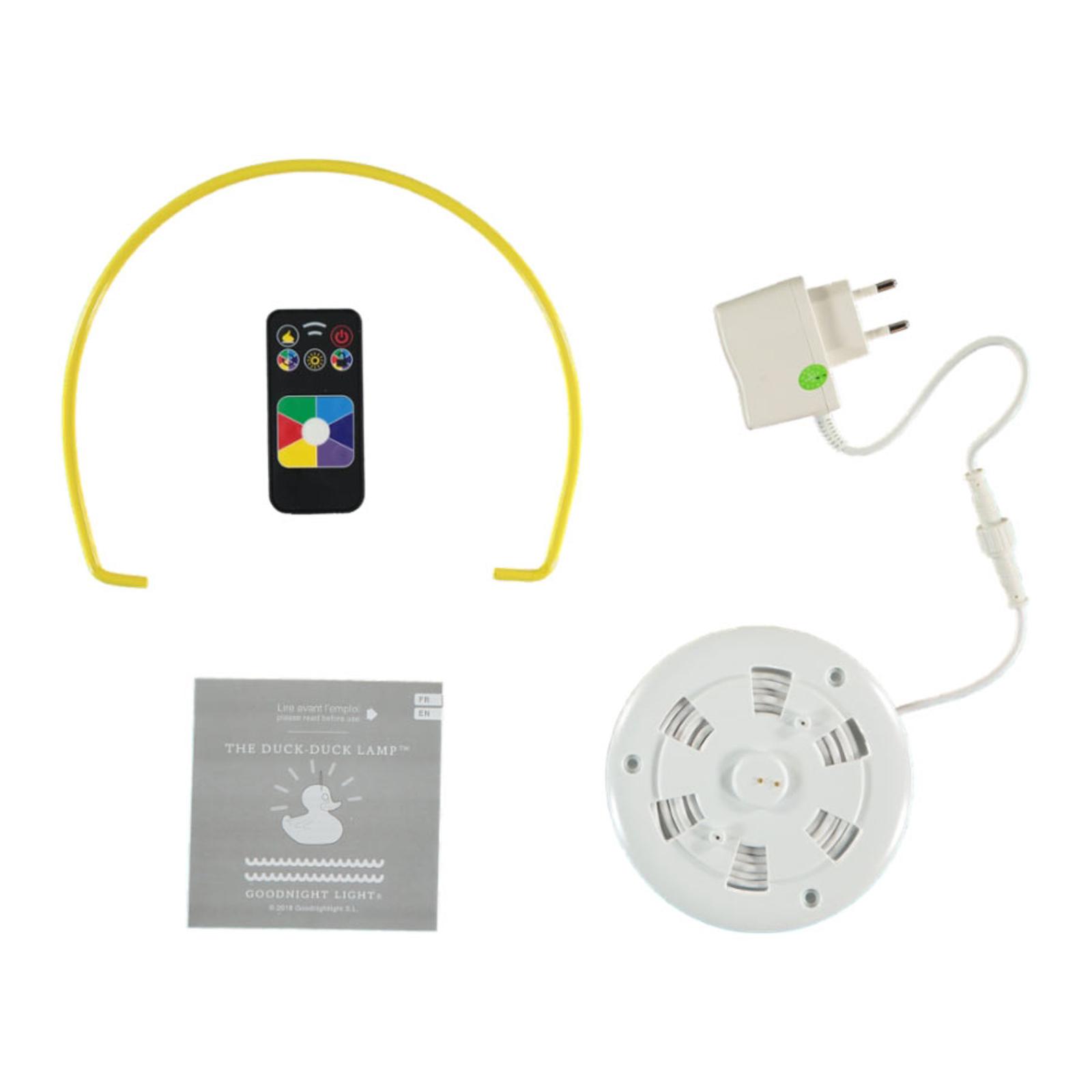 DUCK-DUCK XL -design-LED-ulkovalo, keltainen
