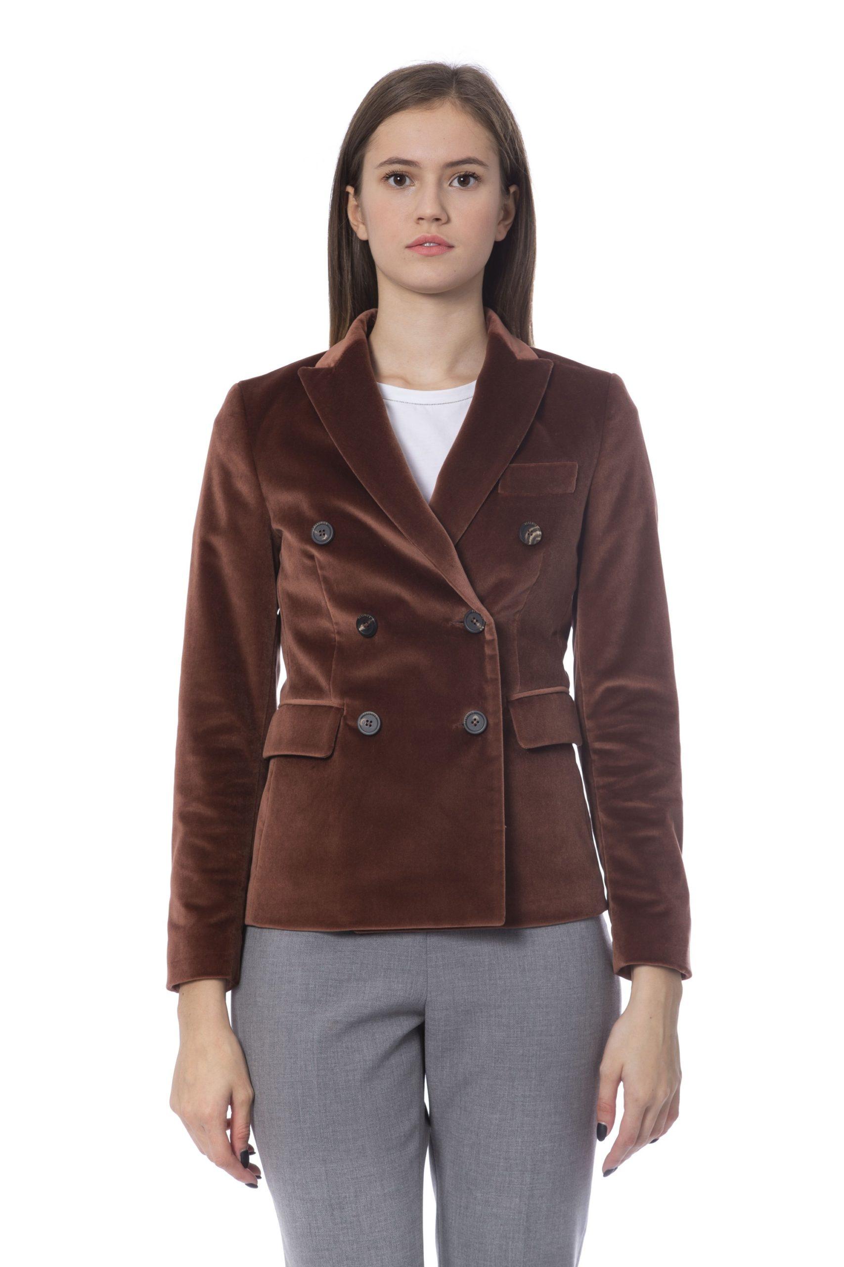 Peserico Women's Jacket Brown PE854368 - IT42 | S