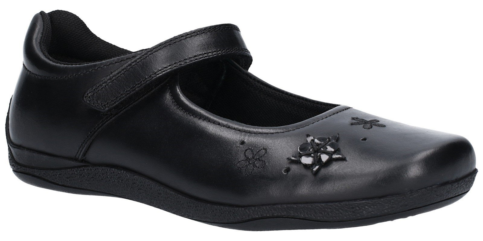 Hush Puppies Kid's Candy Senior Touch Fastening Shoe Black 27455 - Black 3 UK