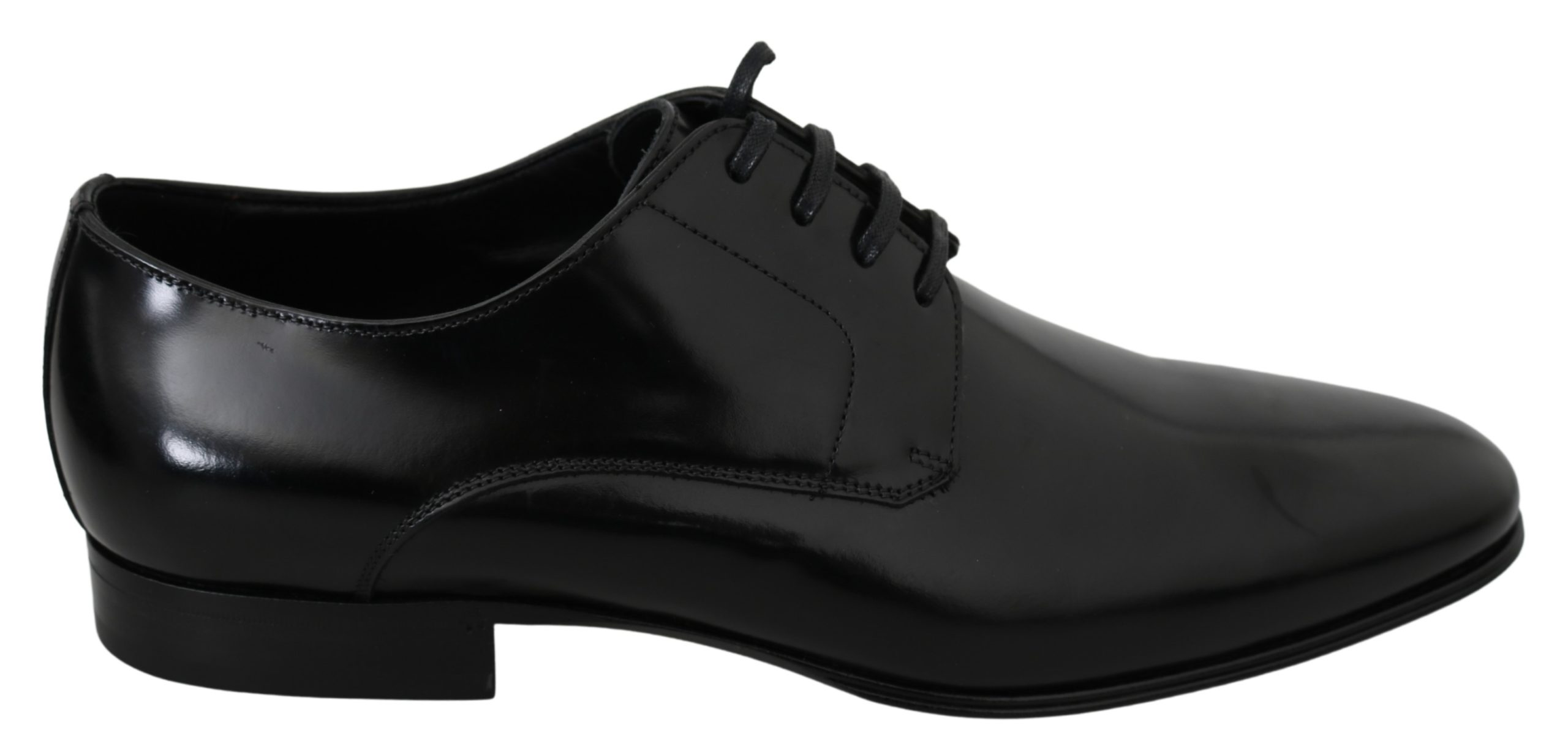 Dolce & Gabbana Men's Solid Leather Derby Shoe Black MV2896 - EU41/US8