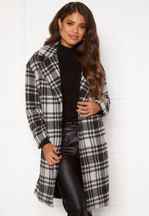 ONLY Dajana Check Wool Coat OTW Black L