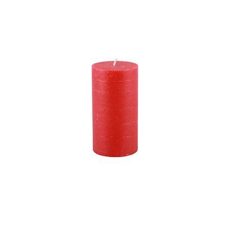 Rustic Lys H: 13,5 cm Rød