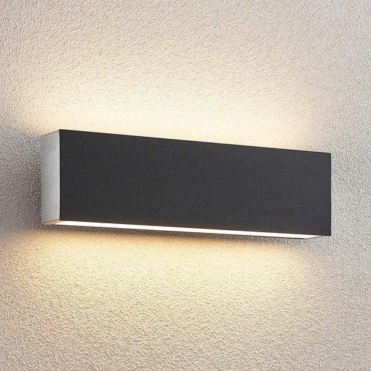 Lucande Aegisa -LED-ulkoseinälamppu, kulmikas