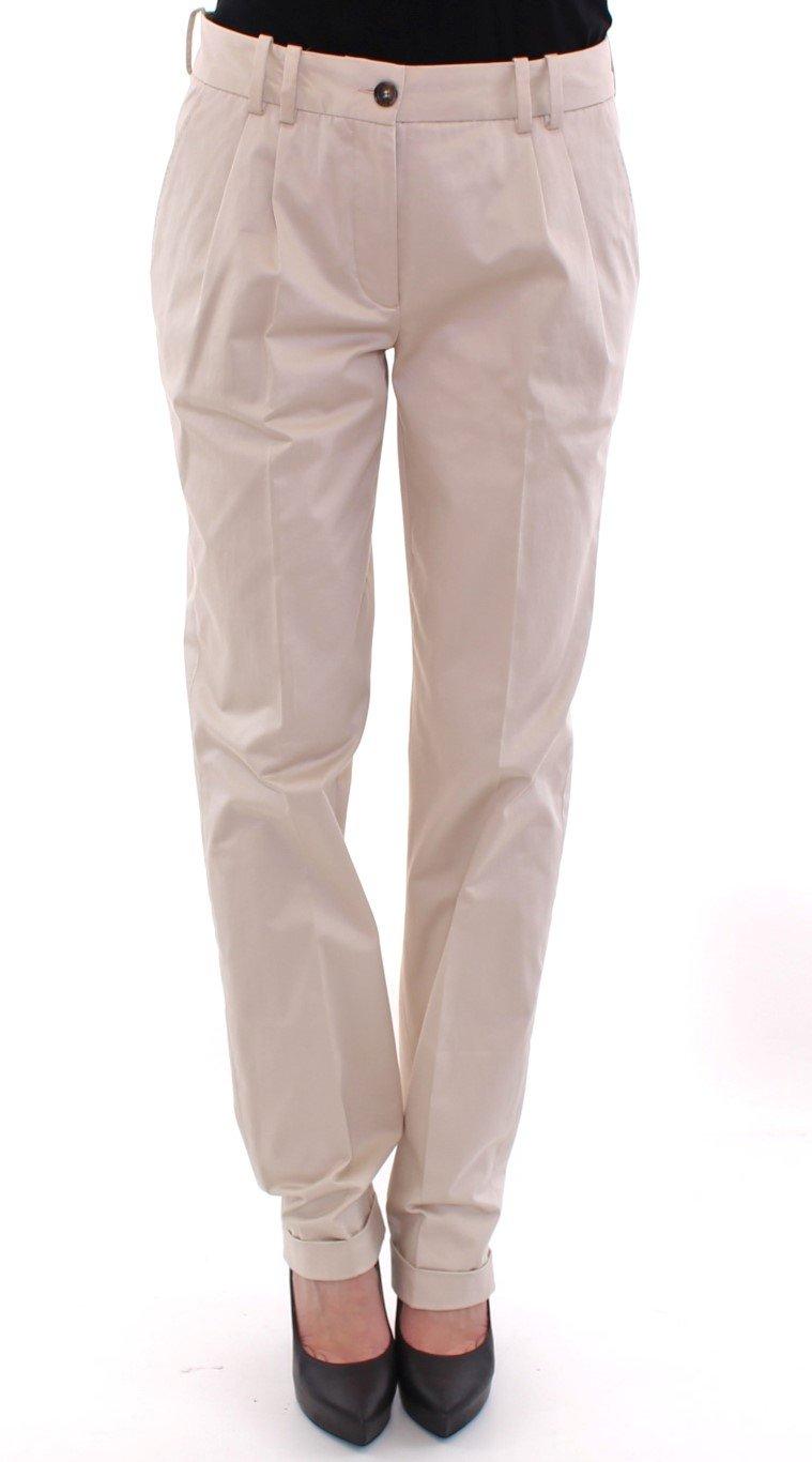 Dolce & Gabbana Women's Trousers Beige NOC10532 - IT42|M