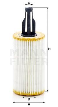 Öljynsuodatin MANN-FILTER HU 7025 z