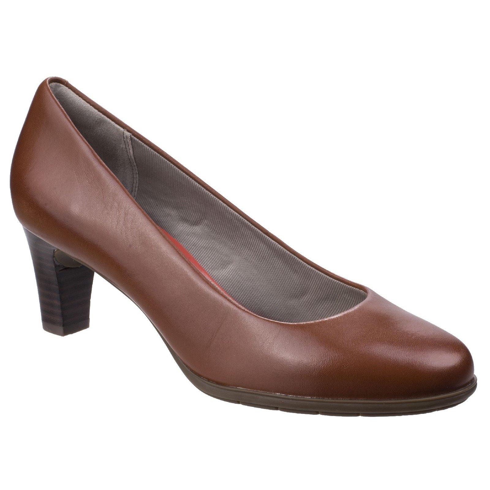 Rockport Women's Melora Plain Pump Shoe Various Colours 26349 - Alpaca 5
