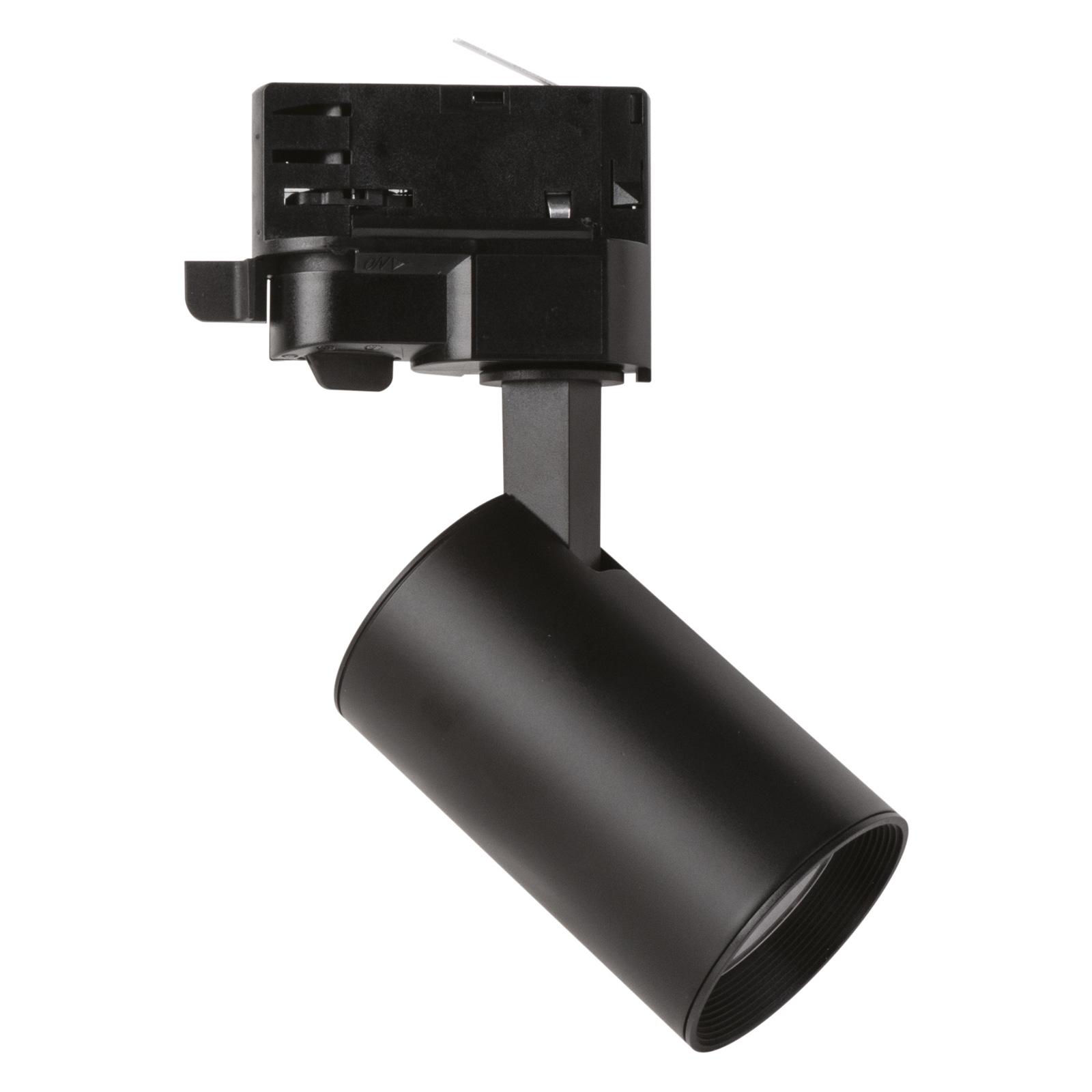 LED-spotti MarcoMini 3-vaihekiskoon, musta 4 000 K