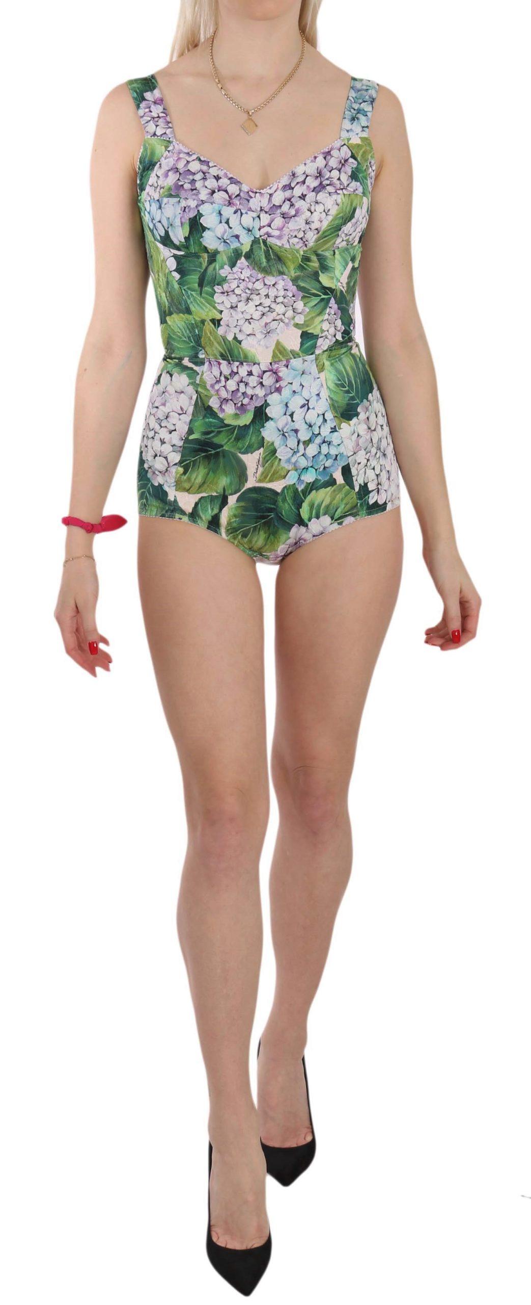 Dolce & Gabbana Women's Romper Hortensia Stretch Dress Multicolor TSH2977 - IT36 | XS