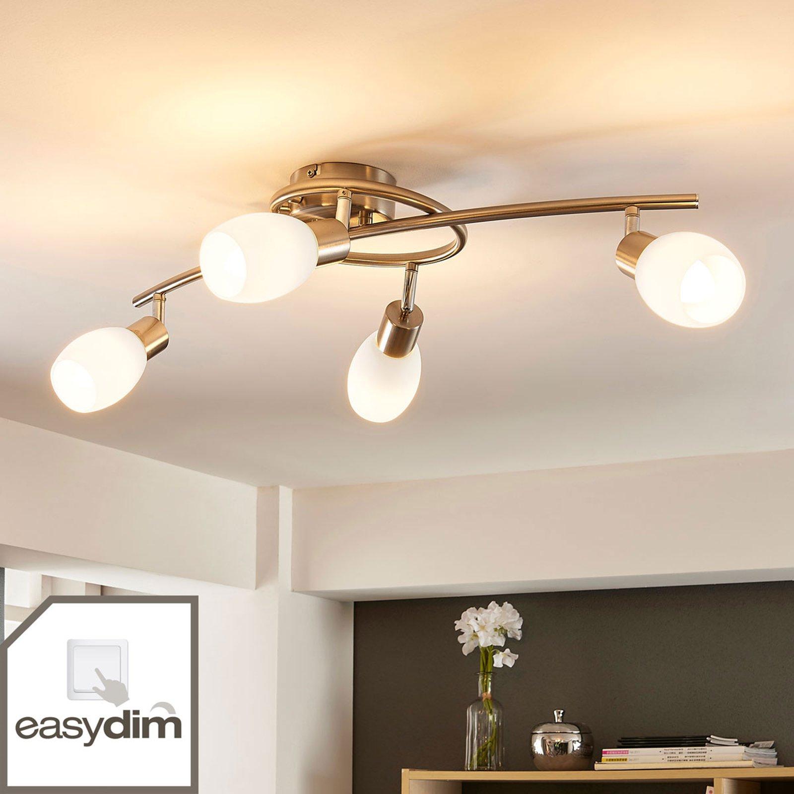 LED-taklampe Arda, dimbar med bryter