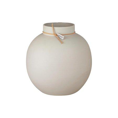Vase steintøy Rund Beige 22 cm