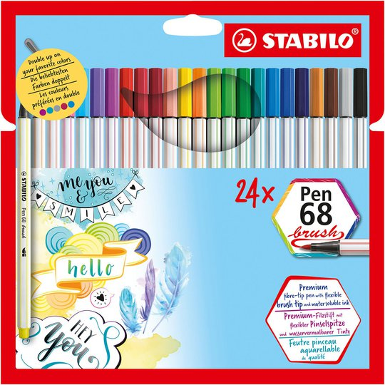 STABILO Fiberspisspenner Premium 24-pack