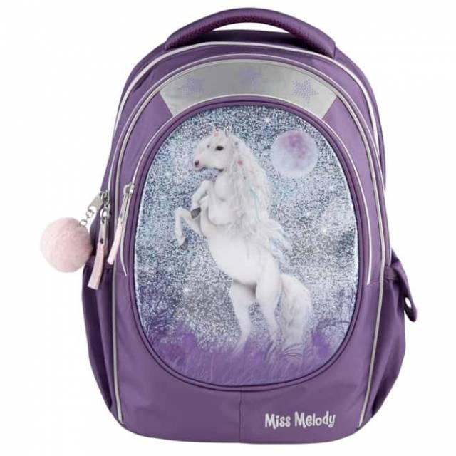Miss Melody - School Bag w/Glitter - Purple (0410776)