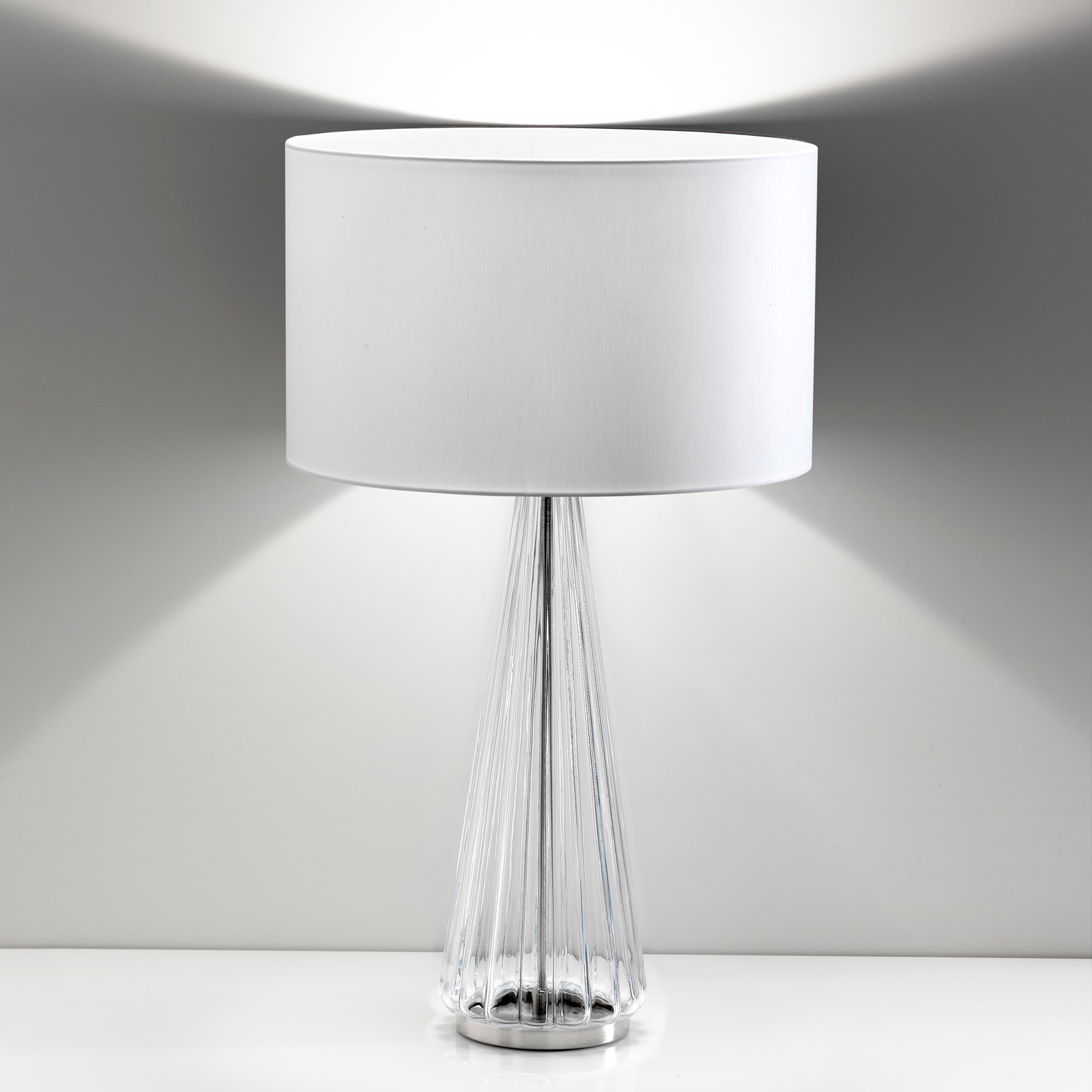 Pöytälamppu Costa Rica valkoinen, läpinäkyvä