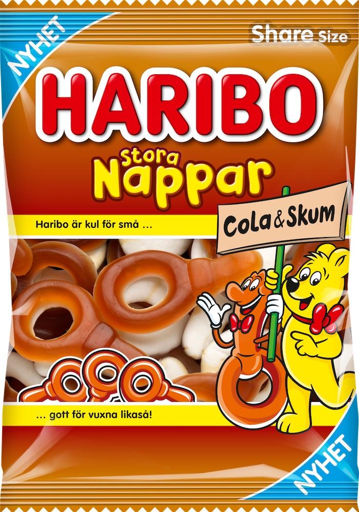 Haribo Nappar Stora Cola Skum 170g