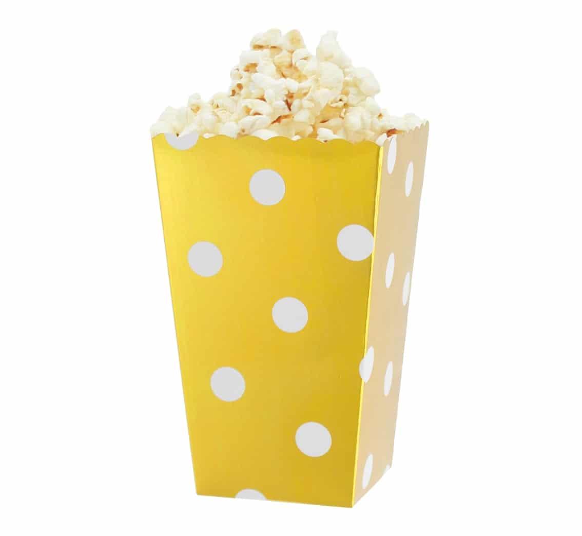 Popcornbox guld