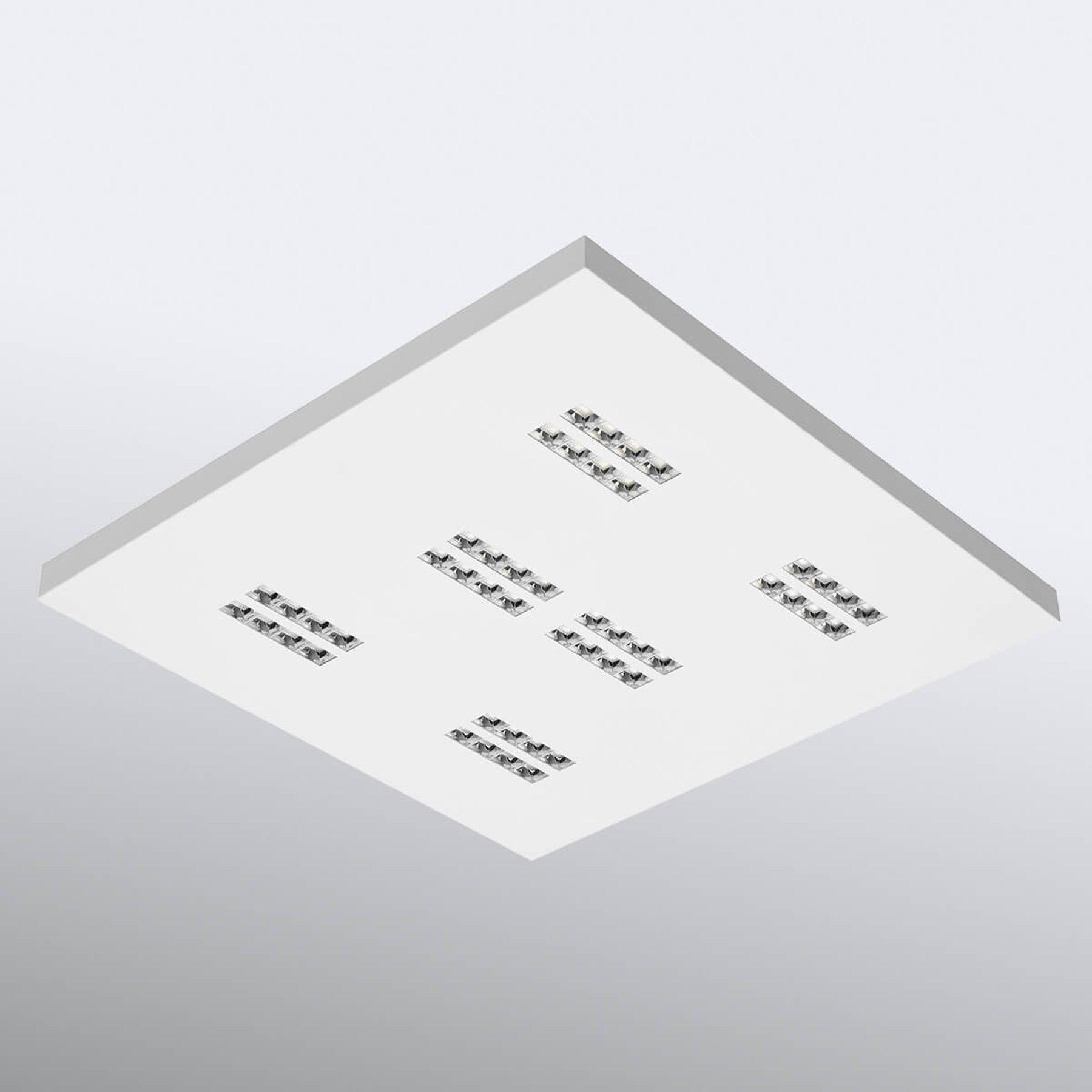 LED-taklampe Declan II SS1 kvadrat, 3 000 K