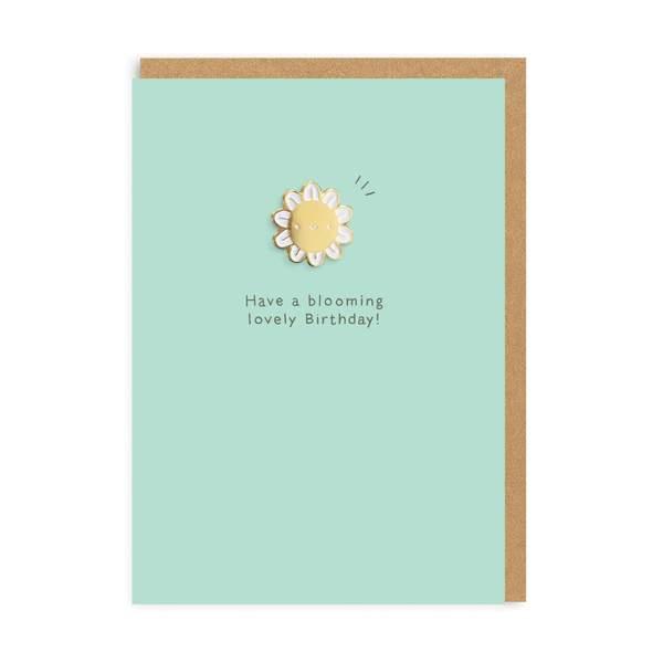 Blooming Birthday Enamel Pin Greeting Card