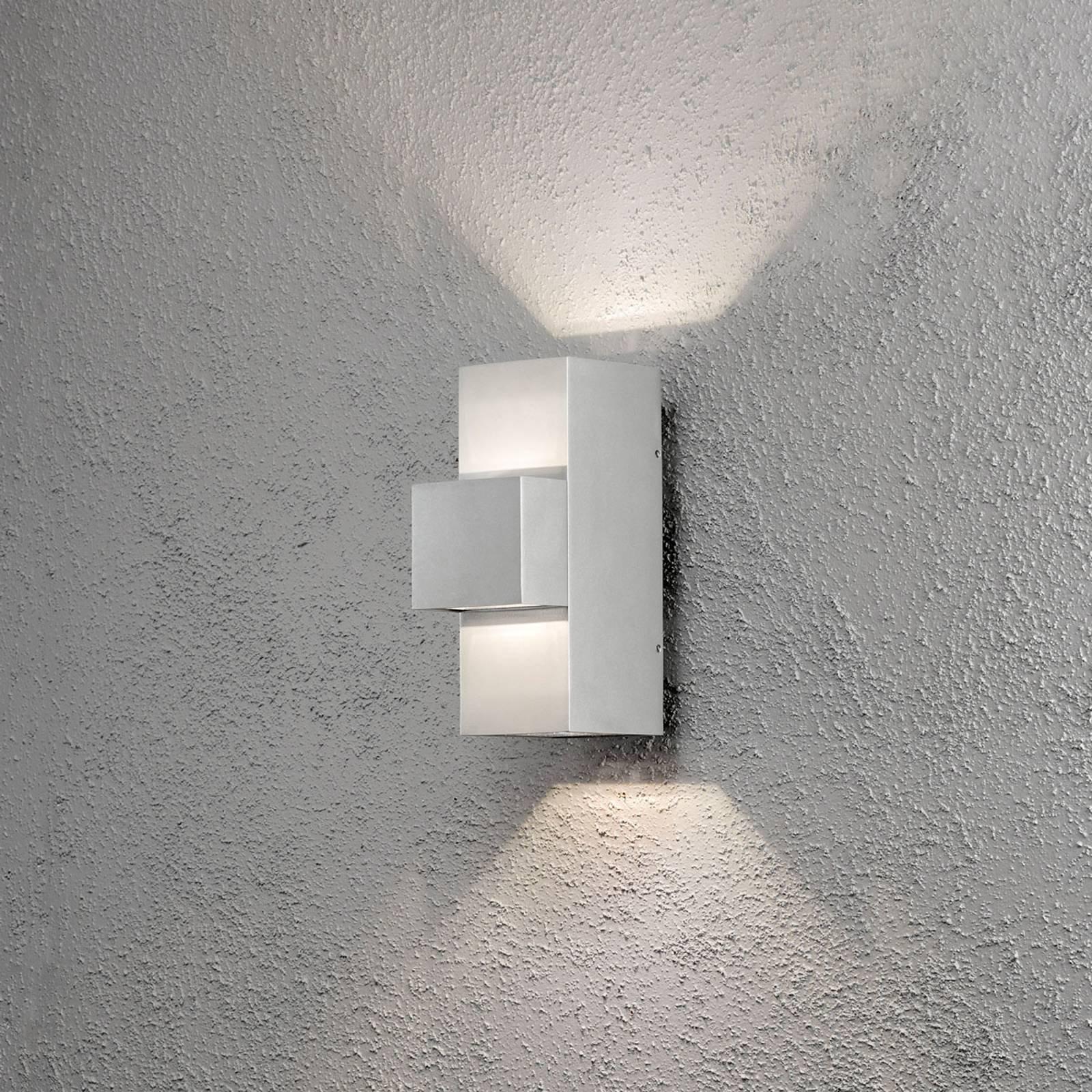 Imola utendørs LED-vegglampe, 3 lyskilder