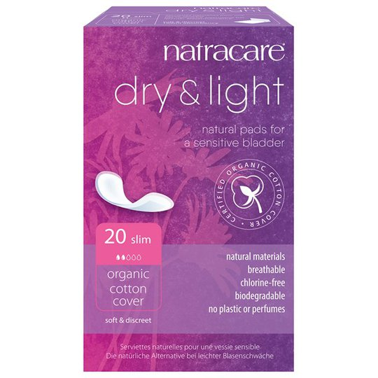 Natracare Ekologiska Inkontinensskydd Dry & Light Slim, 20 st