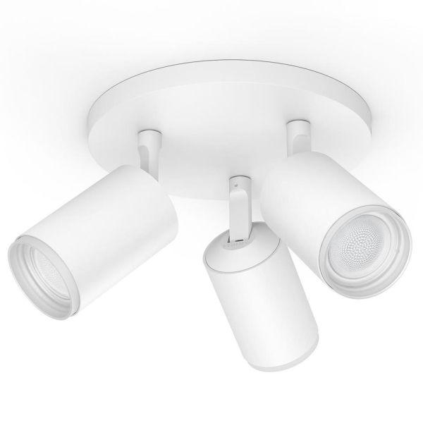Philips Hue Fugato Kohdevalaisin valkoinen, 3 x 5,7 W LED