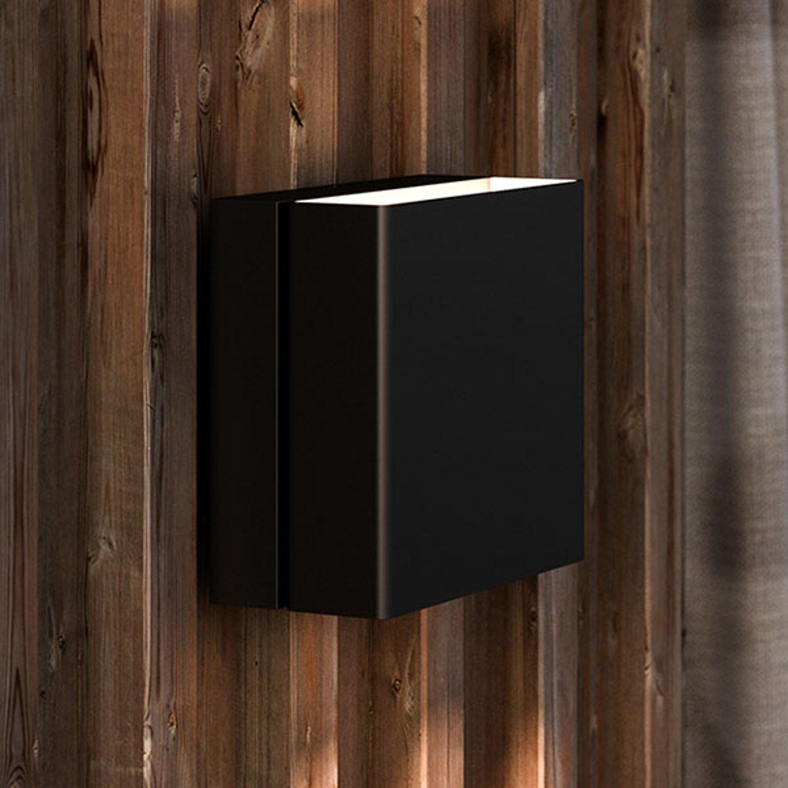Utendørs LED-vegglampe Turn, dimbar, svart