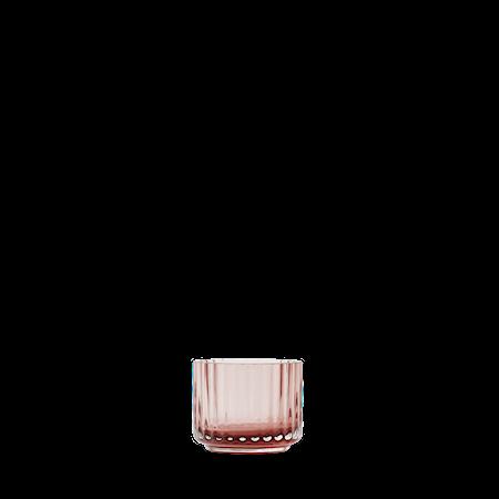 Lykt Munnblåst Glass Burgundy Ø6,7 cm