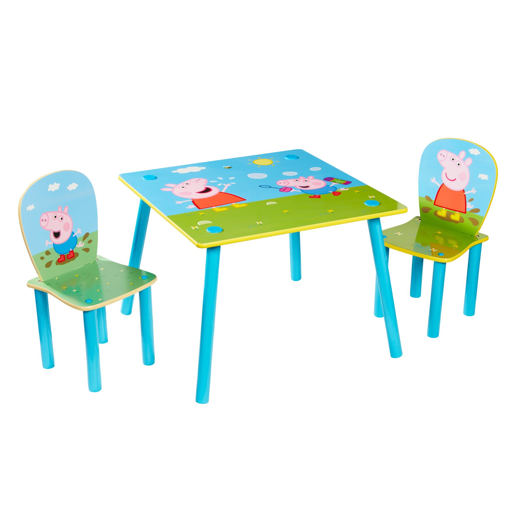 Peppa Pig - Kids Table and 2 Chairs Set (527PIG01E)