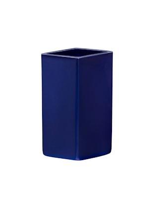 Ruutu Vas Keramik Mörkblå 18 cm